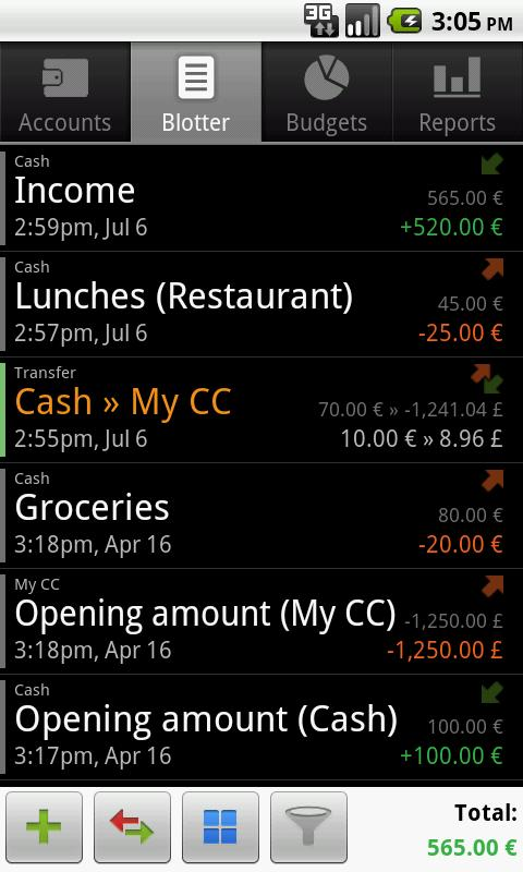 financisto para android
