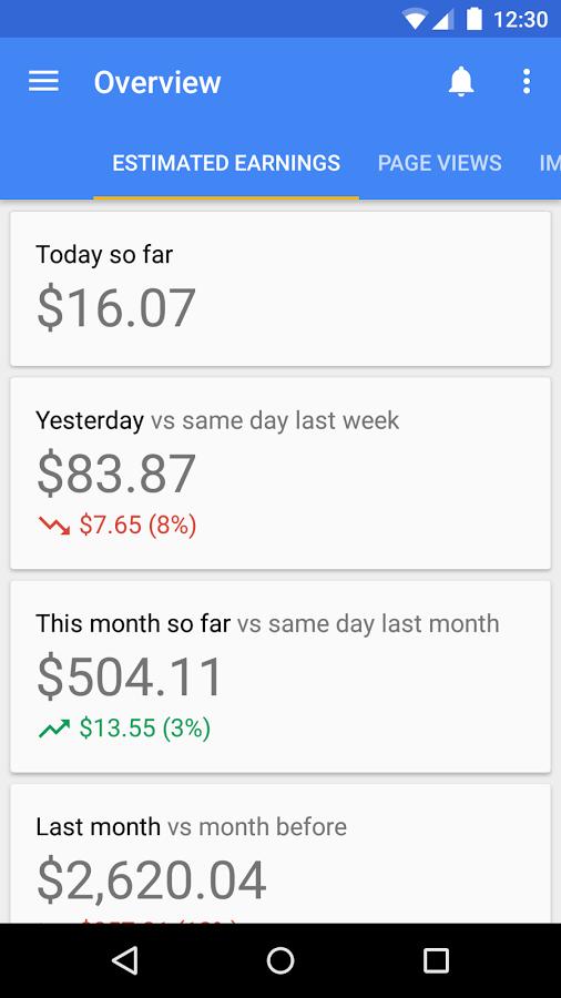 app de google adsense para android