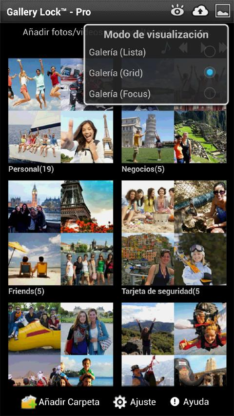App para guardar fotos privadas